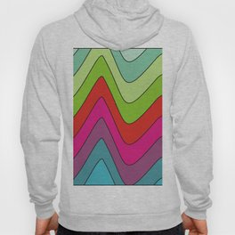 Colorful waves no.2 Hoody