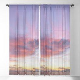breathtaking sunset Sheer Curtain