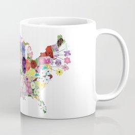 State Flower Map Coffee Mug