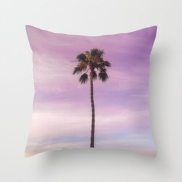 Sunset Palm in Southern California Throw Pillow