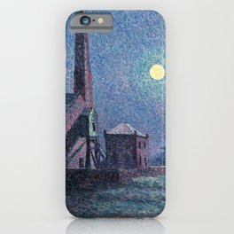 Factory in the Moonlight by Maximilien Luce, 1898 iPhone Case