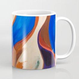 Abstract Blue and Orange Bird Coffee Mug