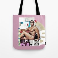 muscle Tote Bags featuring anonymous muscle by Robert Alan
