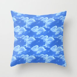Blue Skies Photographic Pattern #2 Throw Pillow