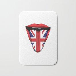 UK Flag Tongue Lips Great Britian United Kingdom Bath Mat