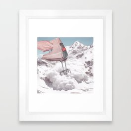 Doris Whisker II - Avalanche whipped cream Framed Art Print