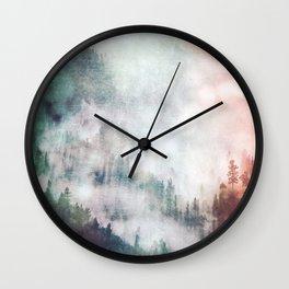 Colorful Fog Wall Clock