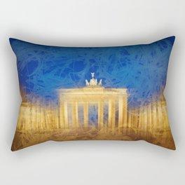 Modern Art BERLIN Brandenburg Gate Rectangular Pillow
