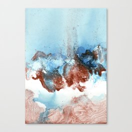 Copper Blue Abstract Sky Canvas Print