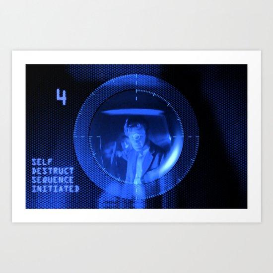 Doctor Who Dalek Self Destruct! Art Print
