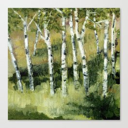Birches in the Dunes Canvas Print