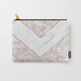 Shimmering mirage - pink marble chevron Carry-All Pouch