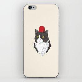 Fez Hat Cat iPhone Skin