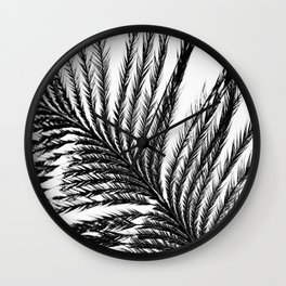 Plume- A Feather Study 2 Wall Clock