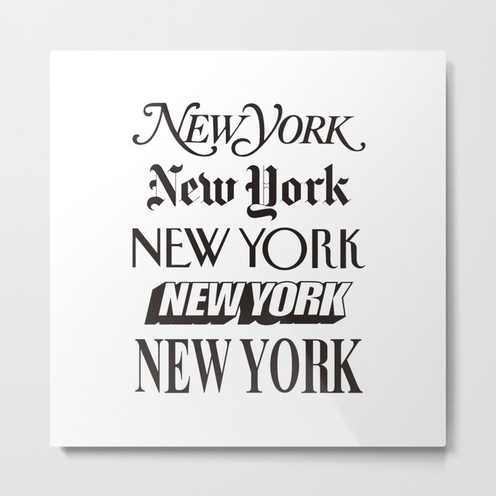 I Heart New York City Black and White New York Poster I Love NYC Design black-white home wall decor Metal Print
