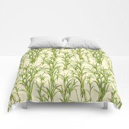 Sugar Cane Exotic Plant Pattern Comforters
