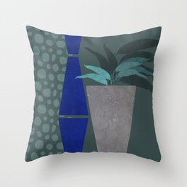 Nomad Desert House Still Life Night Watercolor Throw Pillow