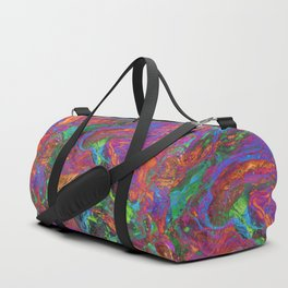 Psychedelic Cosmo Nightmare Glitch Duffle Bag