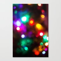 the lights Canvas Prints featuring Lights by Michelle McConnell