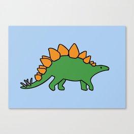 Cute Stegosaurus Canvas Print