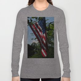 Sunlit American Flag Long Sleeve T-shirt