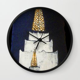 Oakland LDS Temple Tie Wall Clock