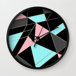 Abstraction . 5 geometric pattern Wall Clock