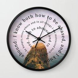 Phillipians 4 Wall Clock