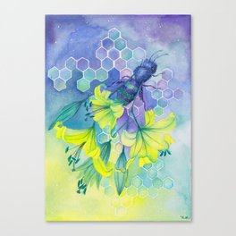 Bee Disappearance, Watercolor Painting Canvas Print