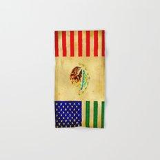 MEXICAN AMERICAN FLAG - 017 Hand & Bath Towel