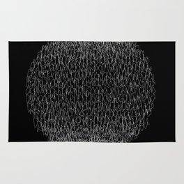 Abstract scribble circle banner. Rug
