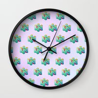 gamer Wall Clocks featuring Gamer by Krista Rae