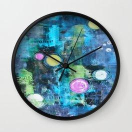 Abstract Floating Circles Wall Clock