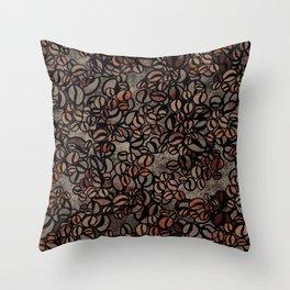 Vintage Coffee Delight Throw Pillow