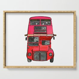 The big red bus. (Painting) Serving Tray