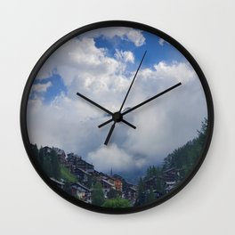 The Alps Breaking through the Morning Fog Wall Clock