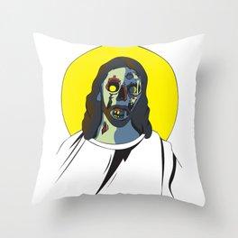 Zombie Jesus Throw Pillow