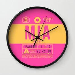 Luggage Tag B - MIA Miami USA Wall Clock