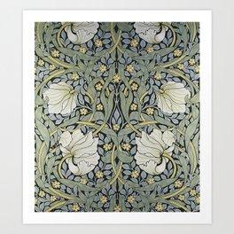 William Morris - Pimpernel  Wallpaper Design Art Print