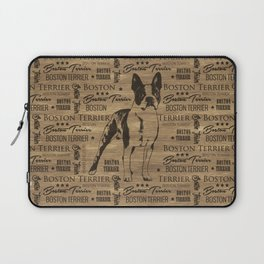 Boston Terrier dog Laptop Sleeve