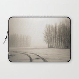 Tyre tracks in snow Laptop Sleeve