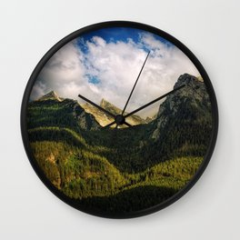 All That Is Above - Mountainscape Wall Clock