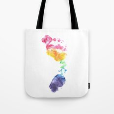 Rainbow Footprint Tote Bag