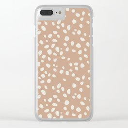PEACH PEBBLES Clear iPhone Case