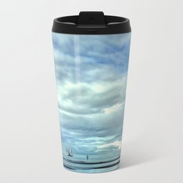 A Rig Passing (Digital Art) Travel Mug
