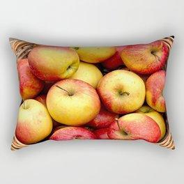 Apples In A Wicker Basket Rectangular Pillow