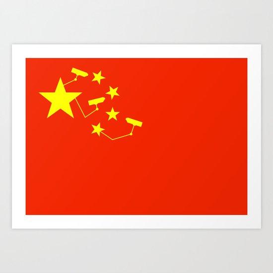 China Is Watching Art Print