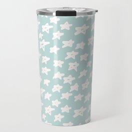 Stars on mint background Travel Mug