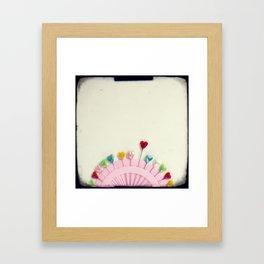 For the love of pins Framed Art Print