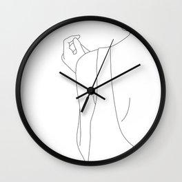 Fashion illustration line drawing - Carl Wall Clock